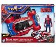 Coche de carreras con lanza dardos Spider Racer con figura de Spiderman, NERF.  Nerf