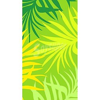 CASACTUAL  Toalla de playa en verde con dibujos de hojas del palmeras 1 Unidad