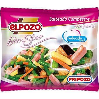 ElPozo Salteado Campestre con jamón reducido en sal Bienestar Bolsa 400 g