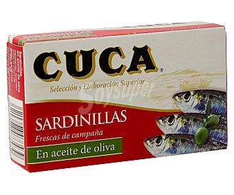 Cuca Sardinillas en aceite de oliva Lata de 63 g neto escurrido