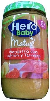 HERO BABY TARRITO MENESTRA CON JAMON Y TERNERA A PARTIR 6 MESES ( BABY NATUR) TARRO 235 g