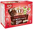 Family Fun mini helados 2 Magnum 2 Cornetto y 2 Twister Caja 6 u x 56,6 ml (340 ml) Frigo