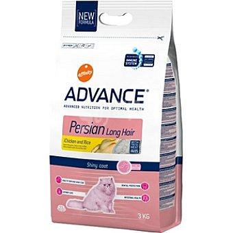 Advance Affinity Alimento de alta gama para gatos de pelo largo con fibra de avena rico en pollo y arroz Persian Long Hair Bolsa 3 kg
