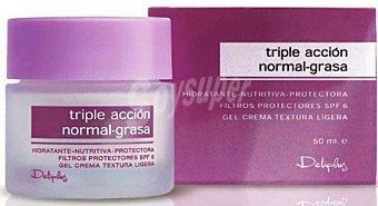 Deliplus Crema facial 3 en 1 piel normal grasa (caja rosa) Tarro 50 cc