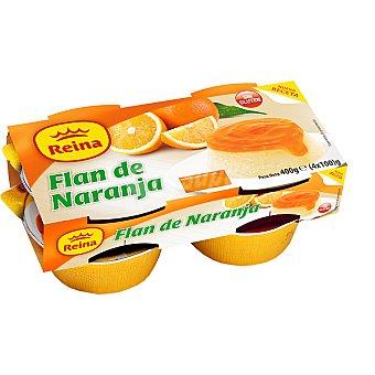 Postres Reina Flan de naranja Pack 4 unidades 100 g