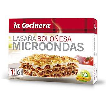 La Cocinera Microondas lasaña a la boloñesa estuche 300 g