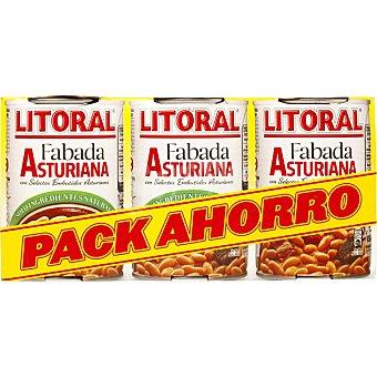 Litoral Fabada Asturiana  pack 3 bote 435 g