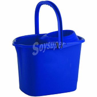 Eroski Cubo + esucrridor azul 15 litros Pack 1 unid