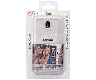 Cellular Line Funda compatible con Samsung Galaxy J5 (teléfono no incluido) Selfie Case