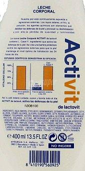 Lactovit Activit Leche corporal hidratante 400 mililitros