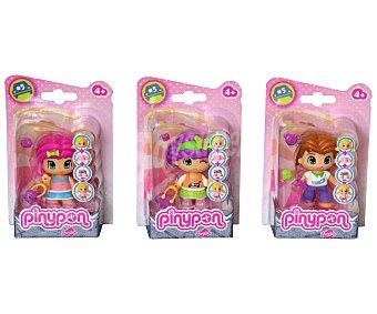 PIN Y PON Figuras básicas de mini muñecas con un accesorio 1 unidad