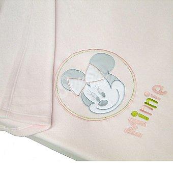 DISNEY P1208 Minnie manta polar para cuna bordada en color rosa