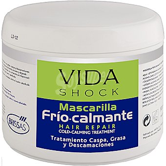 VIDA SHOCK Mascarilla Frio-Calmante tratamiento caspa grasa y descamaciones Tarro 500 ml