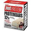 Barritas de proteinas con vitamina B6 sabor a chocolate blanco y stracciatella Envase 105 g Just