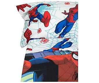 Spiderman Marvel Juego de funda nórdica con 3 piezas 50% algodón para cama de 90cm. diseño spiderman