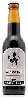 Popaire Cerveza artesana Popaire Tinta de Pop Sweet Stout Botella 33 cl