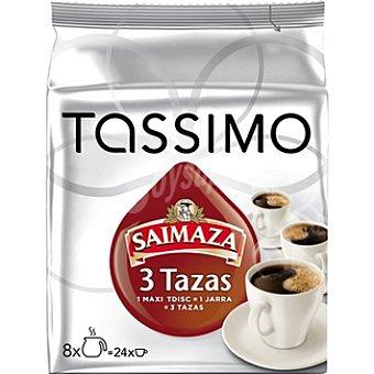 Tassimo Saimaza Café Monodosis 3 Tazas - Intensidad 4 8u
