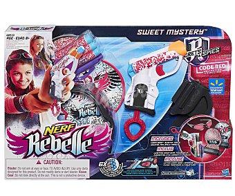 NERF REBELLE Pistola Lanzadora de Dardos de Foam Agente Invencible Sweet Mystery 1 Unidad