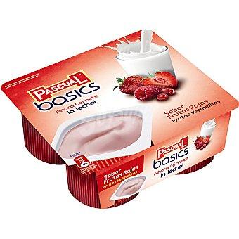 Pascual Basics frutas rojas Pack 4X125 grs
