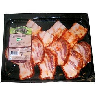 El Corte Inglés Panceta adobada de cerdo ibérico en filetes peso aproximado Bandeja 500 g