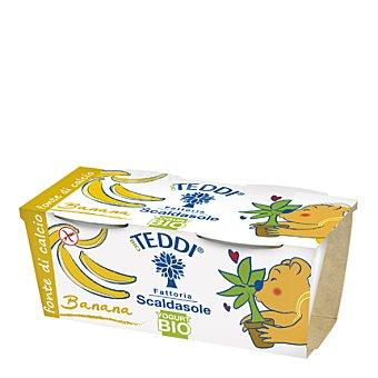 Teddi Yogur de plátano kids bio Pack 2x115 g