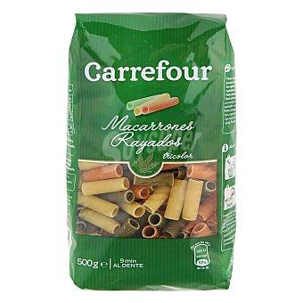 Carrefour Macarrones tricolores 500 g