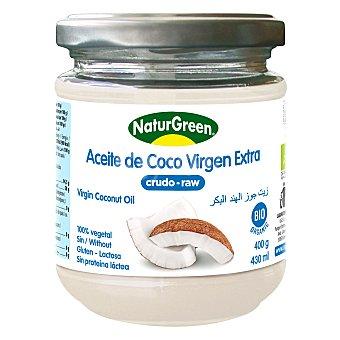 Naturgreen Aceite de coco virgen ecológico sin gluten y sin lactosa Envase 400 g