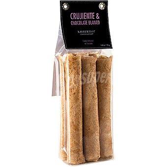 XAVIER MOR Crujiente de chocolate blanco sin gluten Envase 125 g