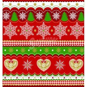 PAP STAR servilletas Christmas Border 3 capas 25x25 cm  paquete 20 unidades