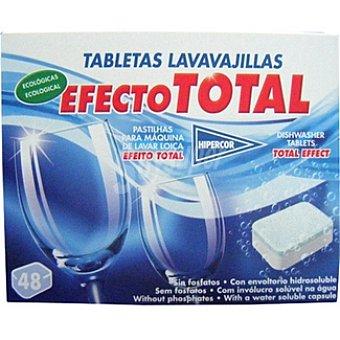Hipercor Detergente lavavajillas efecto total ecológicas Caja 48 pastillas