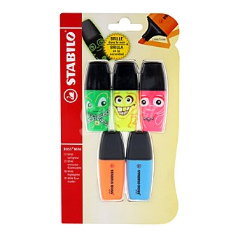 Stabilo Fluorescentes boss mini ghosts + 2 boss mini Fluorescentes boss mini ghosts + 2 boss mini Pack de 5 unidades