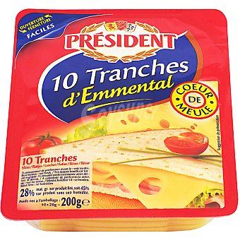 President Queso emmental 10 lonchas Envase 200 g