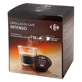 Dolce Gusto Nescafé Café intenso en cápsulas Carrefour compatible con 16 unidades de 7 g