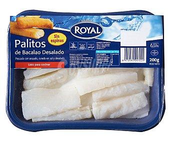 Royal Bacalao desalado en palitos Bandeja 200 gr