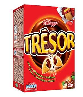 Trésor Kellogg's Almohadillas de cereales rellenos de chocolate y avellanas  Caja 450 g