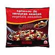 Salteado verduras asadas ( calabacin,pimiento,cebolla,berenjena ) congelado Paquete 400 g Hacendado