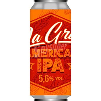 La grua Cerveza rubia artesana Sin Gluten de Cantabria variedad American IPA Lata 44 cl