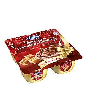 Danone Postre de chocolate y caramelo 460 g