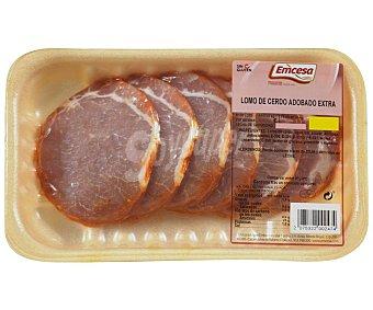 Emcesa Bandeja de cinta de lomo adobada de cerdo, de calidad extra y sin gluten 300 gramos aproximados
