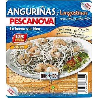 Pescanova Anguriñas con langostinos cocidos 200 g