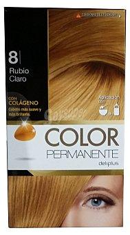 Deliplus Tinte coloracion permanente Nº 08 rubio claro (contiene colageno para hidratar) u