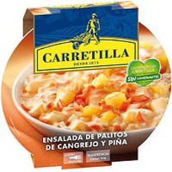 Carretilla Ensalada de palitos de cangrejo-piña 220 g