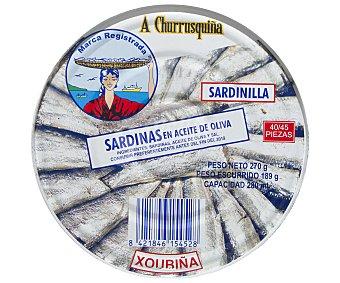 A Churrusquiña Sardinillas en Aceite de Oliva 180 Gramos