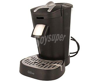 QILIVE Q.5014 Cafetera monodosis, 1 o 2 tazas, presión de 2,5 bar, capacidad del depósito 1 litro, compatible con dosis blandas 1 litro