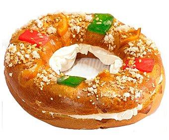 ROSCÓN DE REYES Roscón de Reyes pequeño relleno de nata, (aprox). Elaborado con nata pura y Sin aceite de palma 450 g.