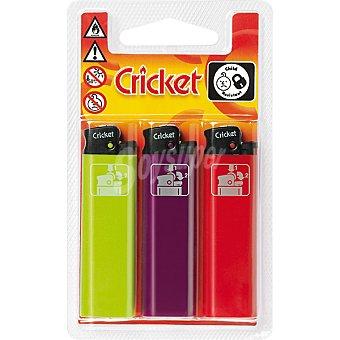 Cricket Encendedor mechero blister 3 unidades