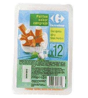 Carrefour Palitos de cangrejo rellenos de queso 200 g