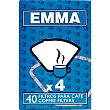 Filtro cafetera X 4 caja 40 unidades 40 unidades Emma