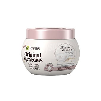Original Remedies Garnier Mascarilla protectora hidratante con crema de arroz y leche de avena para cuero cabelludo sensible 300 ml