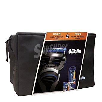 Gillette Pack ahorro Fusion Proglide + neceser + porta cuchillas de viaje 1 ud